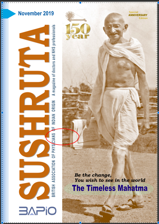 Gandhi on his salt walk